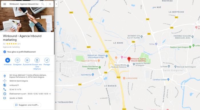géolocalisation Google Maps