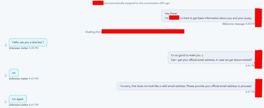 mistake chatbot