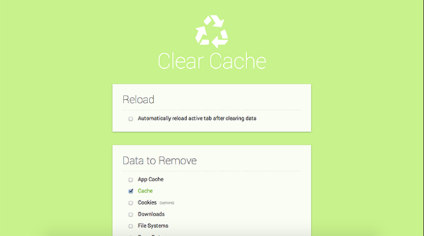 clear-cache-extension